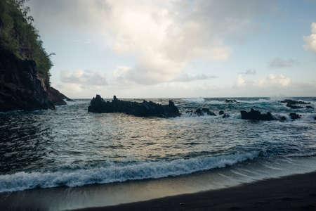 Red Sand Beach on MauI Banco de Imagens