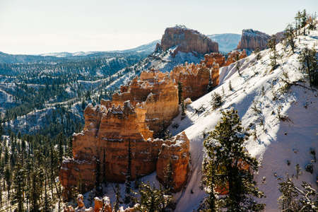 Superb view of Inspiration Point of Bryce Canyon National Park at Utah. Stock Photo
