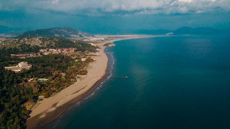 aerial view of Sarigerme Sarced Beach in turkey. High quality photo