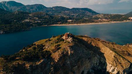 aerial view of Baba Adasi in Mugla, Turkey. High quality photo