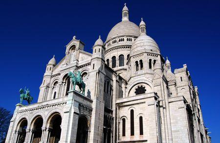 Montmartre. Sacred  Church in Paris, France.  photo