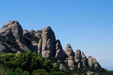 Landscape of Montserrat mountain in Catalonia, Spain.