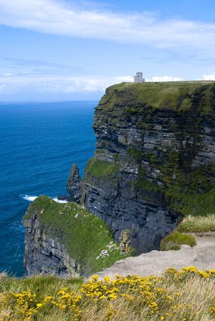 Magnificent view of the Cliffs of Moher in Ireland photo