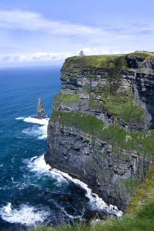 moher: Magnificent view of the Cliffs of Moher in Ireland Stock Photo