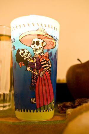 mariachi: Decoratie voor het offer aan de doden Stockfoto