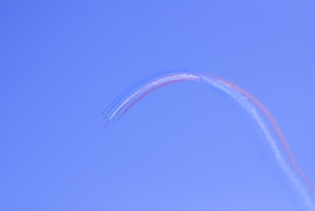 manoeuvre: Airplanes show in Barcelona Spain  Flying exhibition  Editorial