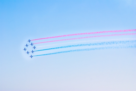Airplanes show in Barcelona Spain  Flying exhibition Stock Photo - 15761617