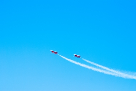 Airplanes show in Barcelona Spain  Flying exhibition  Stock Photo - 15761646