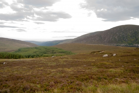Wiclow Mountains in Ireland. Natural and green landscape. photo