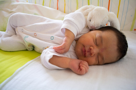 three months old: Cute New born baby girl under three months old