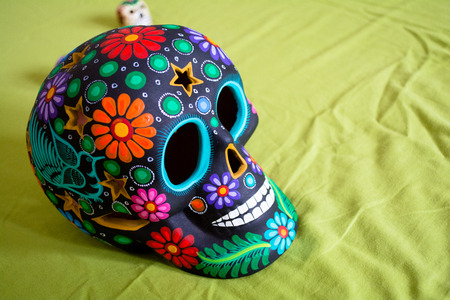 Decorations for Mexican Day of the Dead Stock Photo