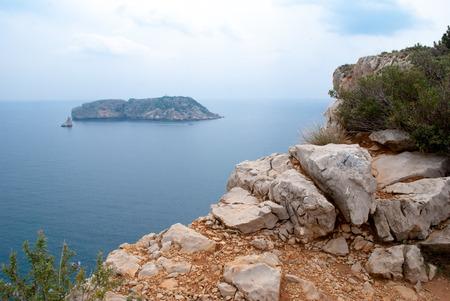 Summer landscapes around Costa Brava, impressive cliffs and coastlines.