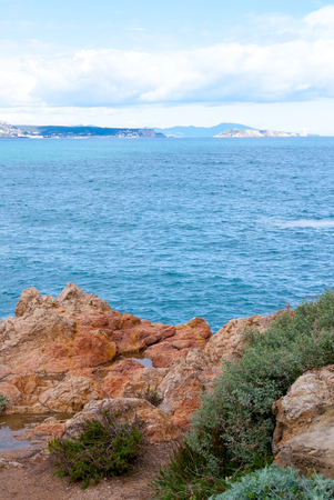 Summer landscapes around Costa Brava, impressive coastlines. Amazing mediterranean sea.