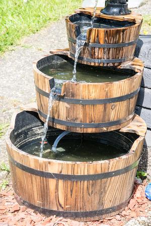 barrel tile: Fountain Stock Photo