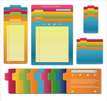 personal organizer: Set Of website template design