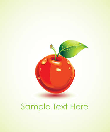 vector juicy apple Illustration