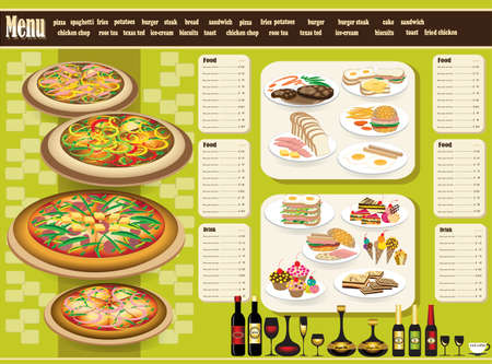 ornament menu: Restaurant Menu  Full design concept