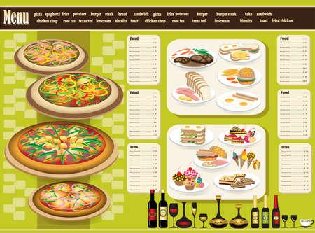 Restaurant Menu Vollständige Design-Konzept