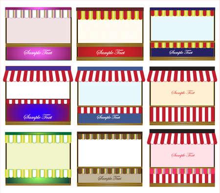 casita de dulces: toldo para el texto Vectores