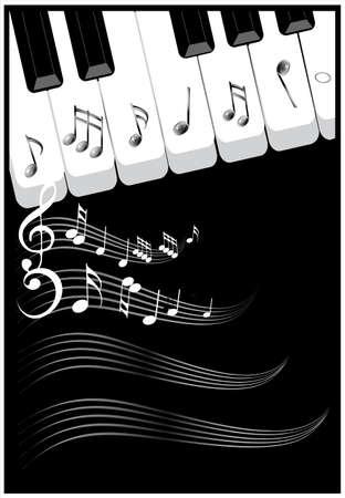 Le note musicali sfondo per copertina. illustrazione.