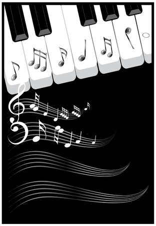 theory: Musical notes background for cover design. illustration. Illustration