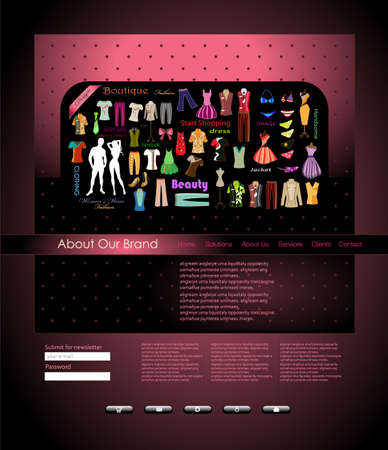 Website design template.  illustration Illustration