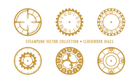 Steampunk Collection Isolated - Clockwork Dials