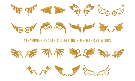 Steampunk Collection Isolated - Mechanical Wings