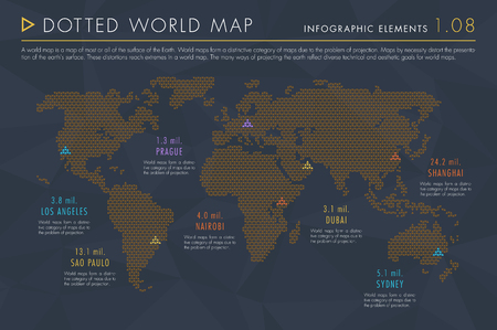 Infographic Elements Vol.1 - Dotted World Map