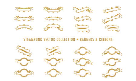 Steampunk Collection Isolated - Banners and Ribbons