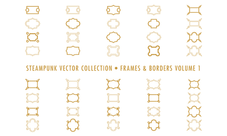 Steampunk Collection Isolated - Frames and Borders 向量圖像