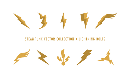 Steampunk Collection Isolated - Lightning Bolts