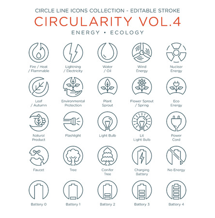 Circle Icons Collection - Energy and Ecology