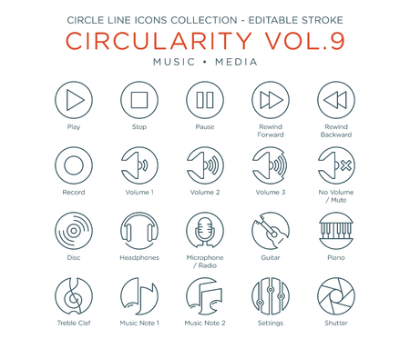 Circle Icons Collection - Music and Media