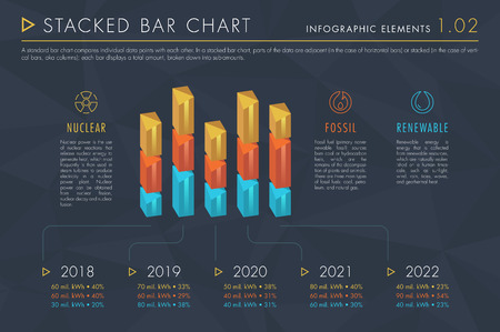 Infographic Elements Vol.1 - Stacked Bar Chart 向量圖像