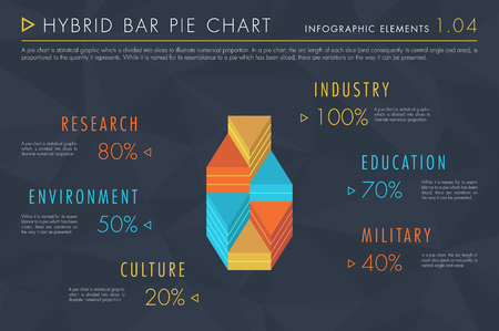 Infographic Elements Vol.1 - Hybrid Bar Pie Chart 向量圖像