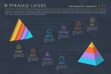 Infographic Elements Vol.1 - Pyramid Layers
