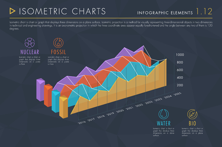 Infographic Elements Vol.1 - Isometric Charts