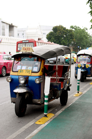 three wheeler: Taxi in Bangkok Editorial