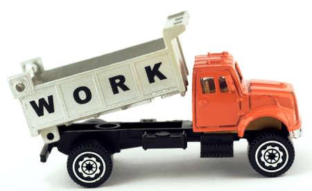 dumptruck: Work conceptual construction dumptruck