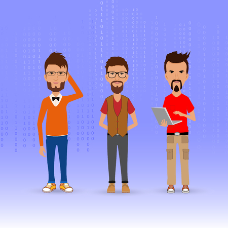 technology: information technology workers Illustration