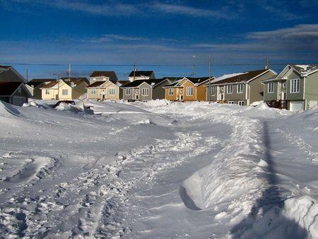 would: questo � il seguito di un inverno blizzard che ha lasciato la citt� di st.john 's nefoundland canada paralizzato. Sarebbe due giorni prima di questa particolare strada sarebbe adeguatamente autorizzata dalla neve aratro.