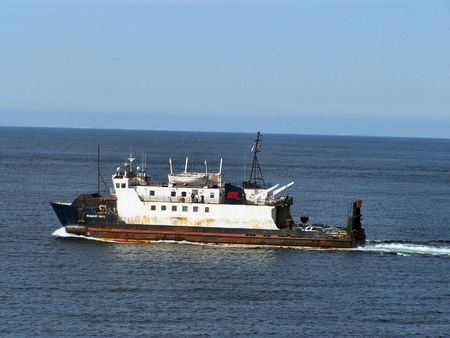 A passenger ferry that travels to and from bell island newfoundland canada.