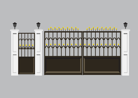 rejas de hierro: puerta de lujo Vectores
