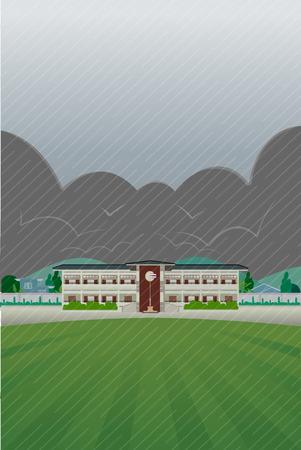 patio escuela: la escuela de lluvias