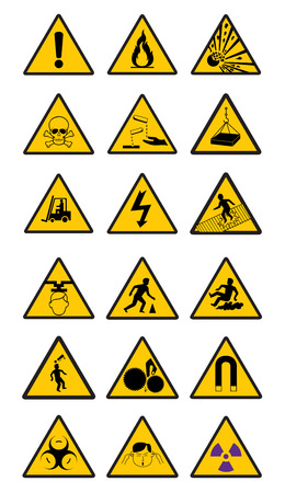 safety signs: Warning Safety signs