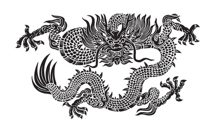 dragon chinois: dragon noir