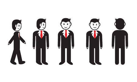 office man all view Vector