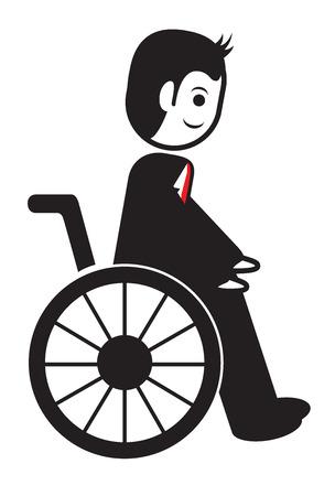 wheel chair: man on wheel