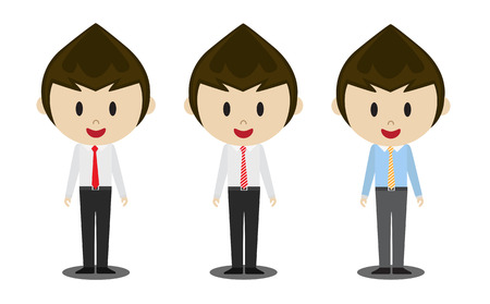 beatific: office man Illustration